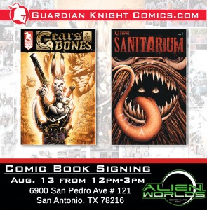 GUARDIAN KNIGHTS COMIC BOOK SIGNING! THURSDAY 8/13/15 @ ALIEN WORLDS | San Antonio | Texas | United States